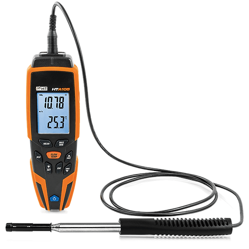 HT Instruments HTA105 Hot Wire Digital Thermo Anemometer Temperature Humidity