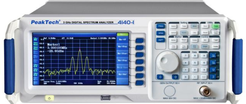 Peaktech P4140 and P4140-1 Digital Spectrum Analyzer 9kHz - 3.0GHz