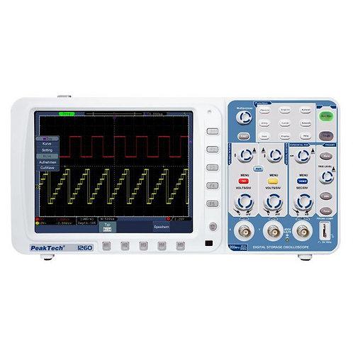 Peaktech P1260 Oscilloscope - 200 MHz / 2 CH, 2 GS/s
