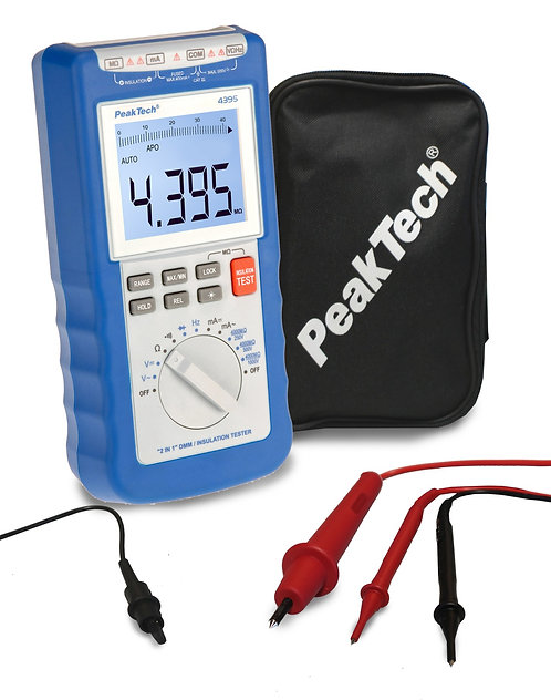 Peaktech P4395 1kV Insulation Tester Multimeter 1000V Megger DMM