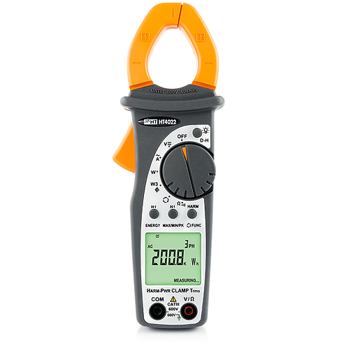 HT Instruments HT4022 Pro Clamp Meter AC TRMS 400A with Power/Harmonics Measure