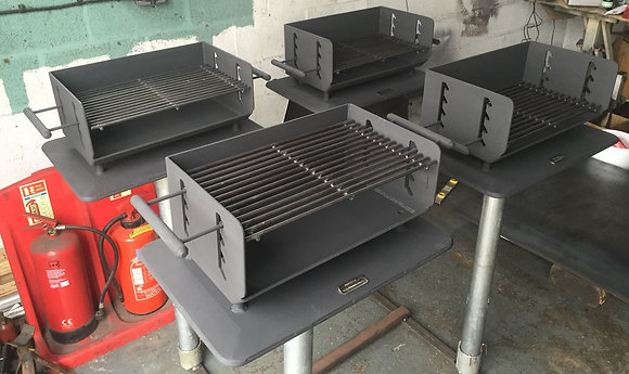Steel barbecue for civic amenities