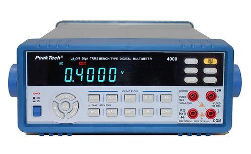 Peaktech P4000 Digital Multimeter True RMS Benchtop DMM 4 ¾ Digit