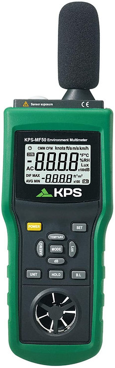 KPS-MF50 Multi-Function Environmental Meter Temperature Humidity Air Velocity