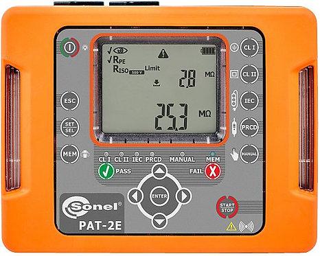 Sonel -PAT-2E Portable Appliance Tester, LED, IP40, WiFi, CAT III 300V