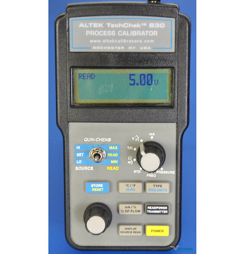 Altek TechChek 830 Multifunction Process Calibrator - NIST Calibrated, W