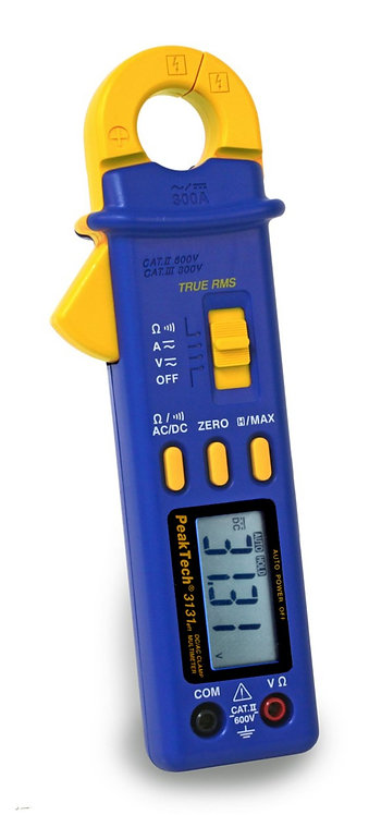 Peaktech P3131 True RMS AC/DC Clamp Meter 300A 600V 4000 Counts