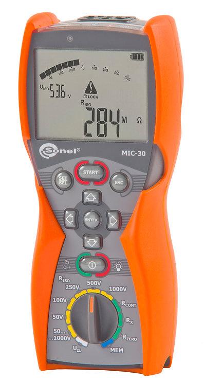 Sonel -MIC-30-Insulation Resistance Meter, 1kV Class, CAT IV 600V Multimeter