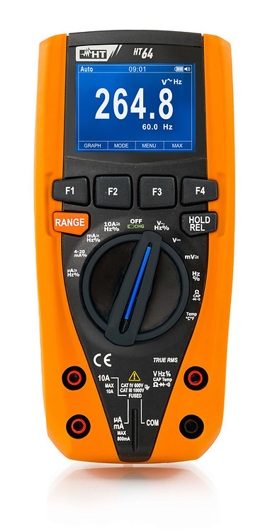 HT Instruments HT64 TRMS/AC+DC Digital Multimeter with Colour LCD display