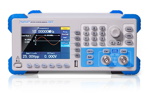 Peaktech P4124 2 Channel Arbitrary Waveform Generator 1 µHz – 5 MHz AFG AWG