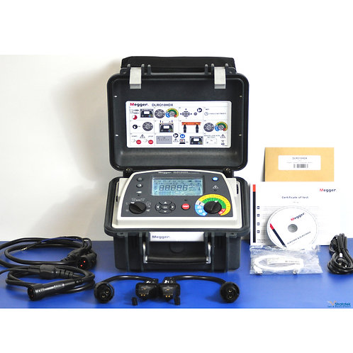 Megger DLRO10HDX 10A Digital Low Resistance Ohmmeter NIST Calibrated & Warranty