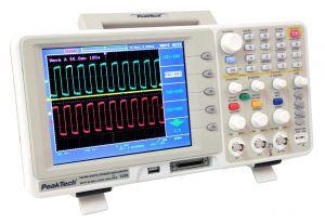 Peaktech P1230 200 MHz 2 CH Digital Storage Oscillosope 16 CH Logic Analyzer