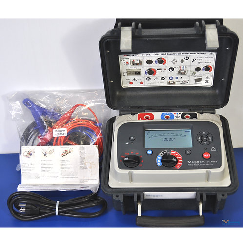 Megger S1-1068 10kV Insulation Tester - NIST Calibrated with Warranty