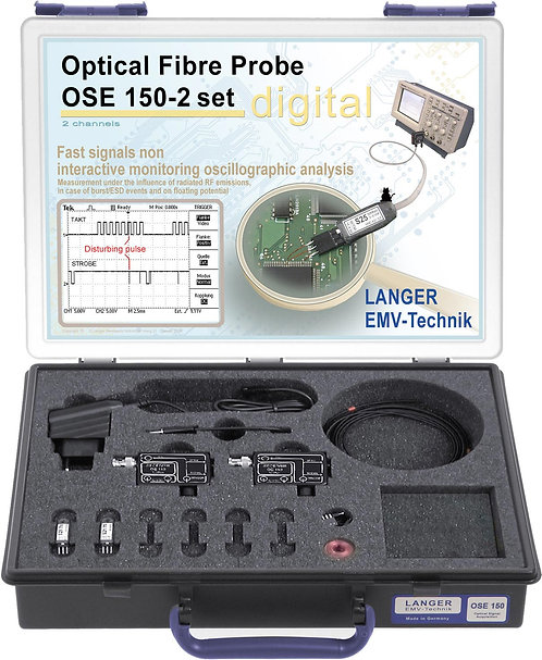 Langer EMV OSE 150-2 Set Optical Fibre Probe 2-channel, 50 Mbps