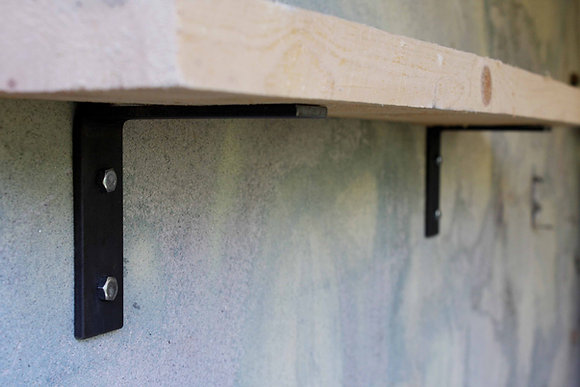 STEEL SHELF BRACKETS SHORT LEG