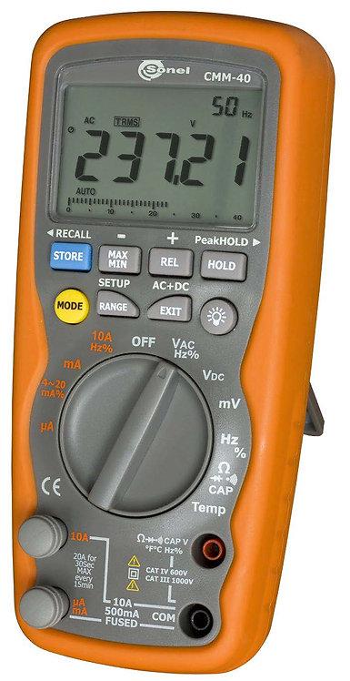 Sonel CMM-40 Industrial Multimeter DMM CAT III 1kV 10A
