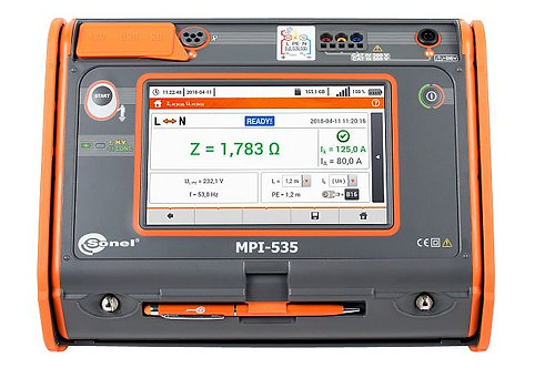 Sonel - MPI-535 Multifunction electrical installations meter, 1000V, 3 GΩ