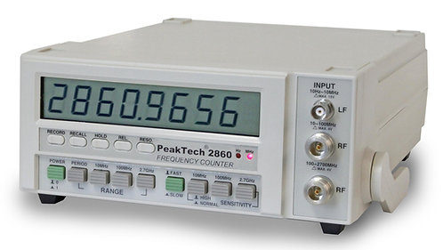 Peaktech P2860 Universal Frequency Counter 10Hz to 2.7GHz 2ppm Accuracy