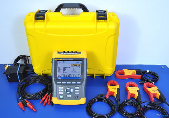 Fluke 435 Power Analyzer PQA with i400s AC Current Clamps - NIST Calibrated