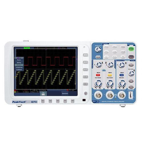 Peaktech P1270 Oscilloscope - 300 MHz / 2 CH, 2.5 GS/s