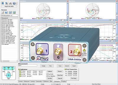 MegiQ VNA-0460e Three Port Vector Network Analyzer 6GHz 3-Port