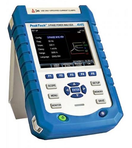 Peaktech P4145 3-Phase Power Quality Analyzer with Datalogger PQA