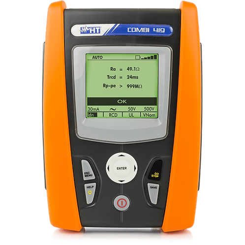 HT Instruments - COMBI419 Installation Safety Tester, Continuity 200mA, 1000VDC