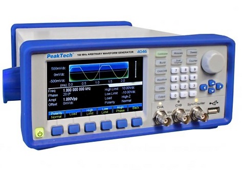 Peaktech P4046 2 Channel Arbitrary Signal Generator 1μHz -160 MHz