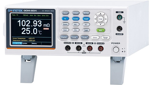 GW Instek GOM-804 DC Milli-Ohm Meter with Handler 50,000 Counts