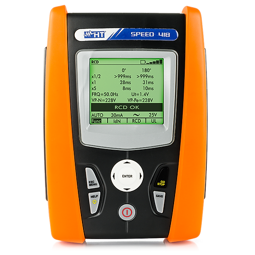 HT Instruments Speed 418 Safety and Ground/Earth Resistance Tester