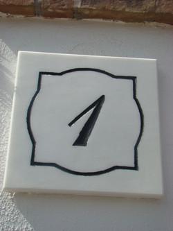 Placa número