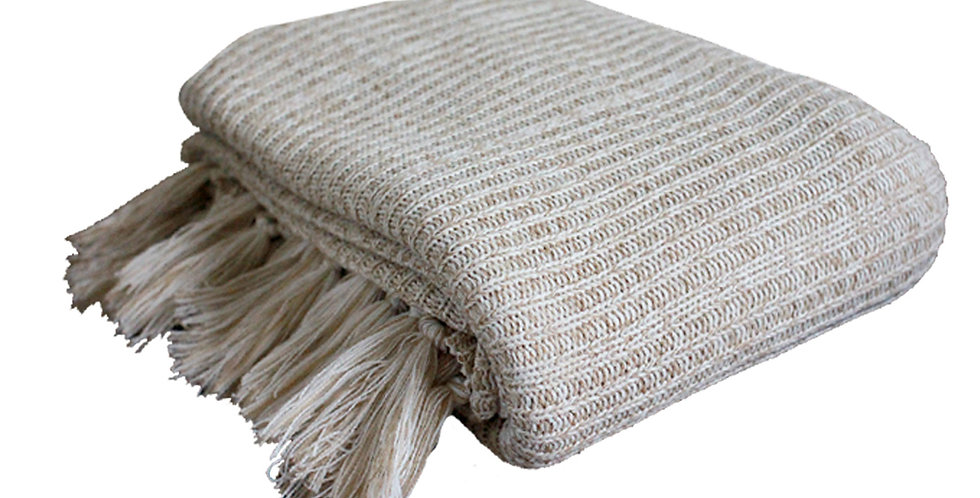 JUMBO Fluff Hand Knit Blanket (Crème)