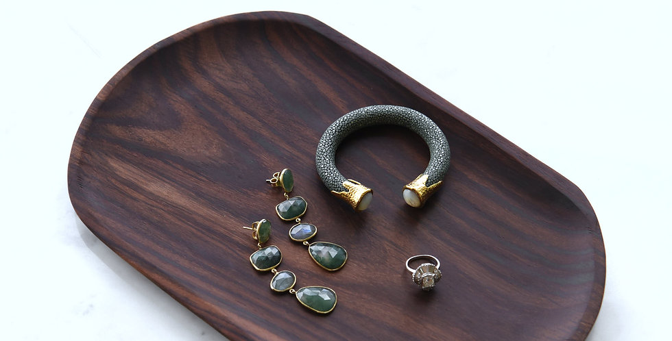 Oval Wooden Tray - KHKK188