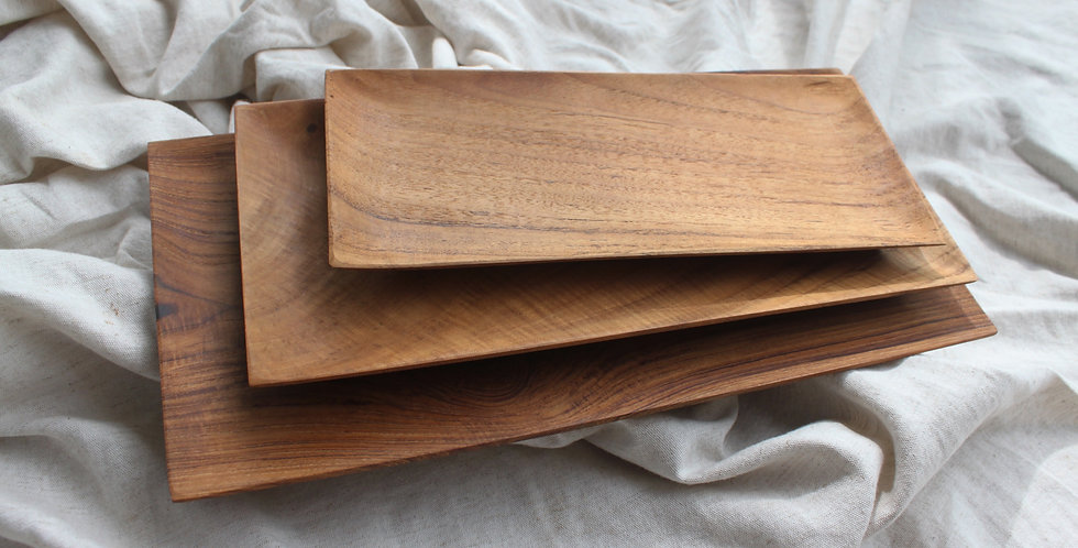 JAVA Teak Wooden Tray - SMALL (27cm x 12cm)