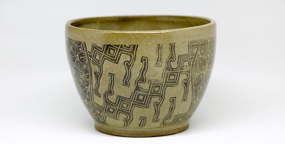 Large Batik Ceramic Salad Bowl