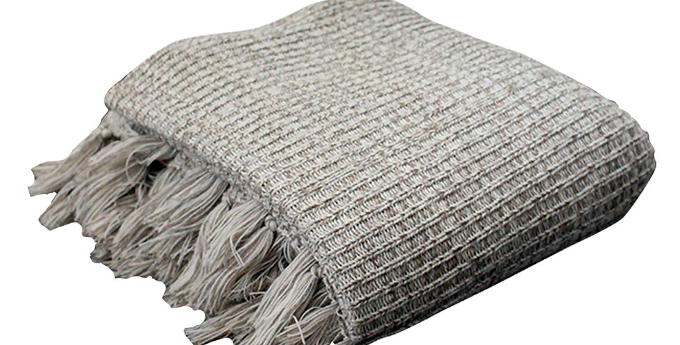JUMBO Fluff Blanket (Off White Khaki)