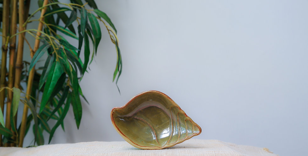Shell Bowl - Olive