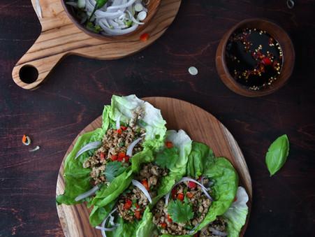 Larb Gai (Mince Chicken Lettuce Wraps)