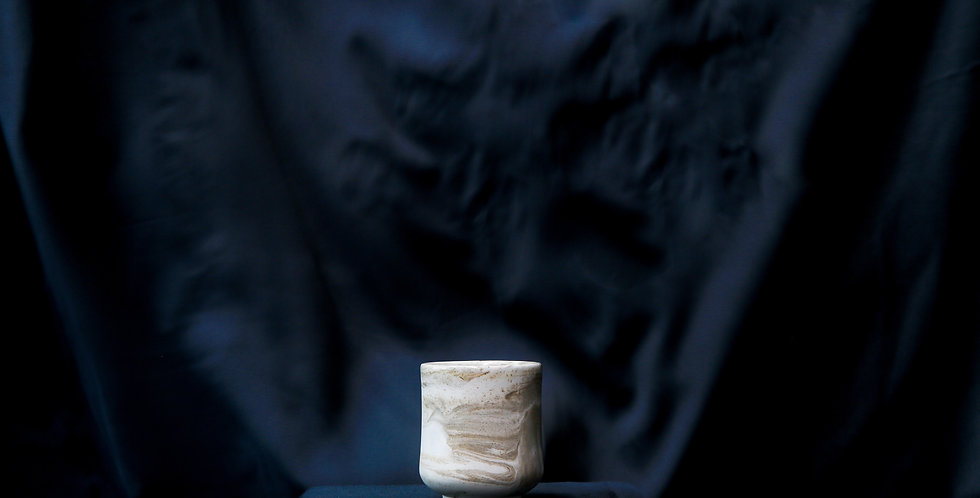 Ash Marble Ceramic Cup