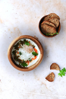 Turkish Eggs with a Japanese Twist
