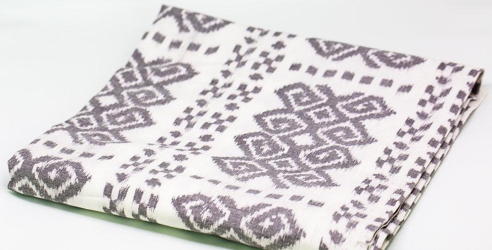 Tenun Textile - White & Grey