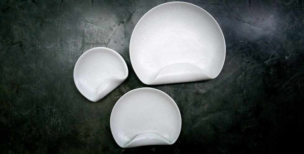Coral Artisan Plates (2 Piece Set - Medium & Large)