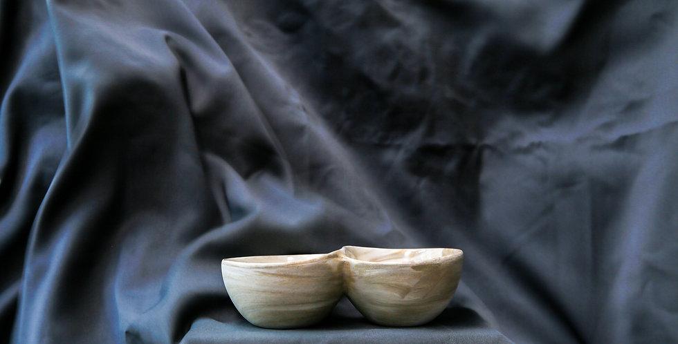 Ash Marble Duo Dip Bowl