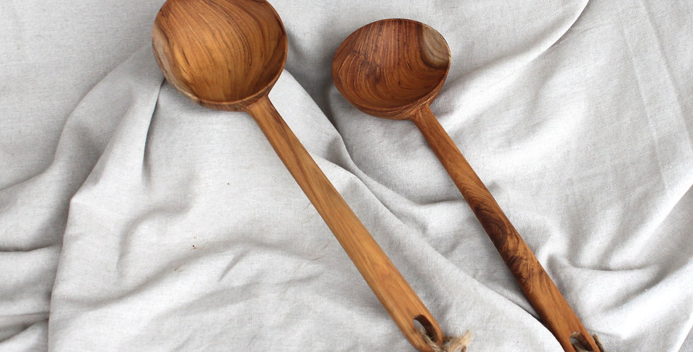 Wooden Teak Scoop - KHKK131