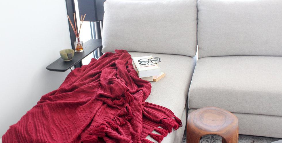 JUMBO Fluff Blanket (Maroon)