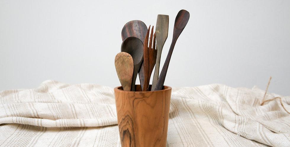 Kayu Wooden Cutlery Set No.4