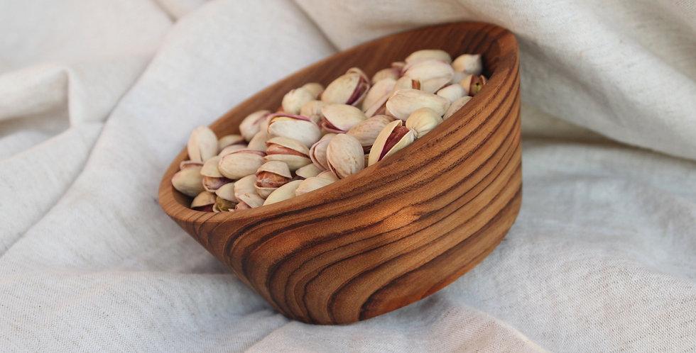 Wooden Teak Cone Bowl (Large)