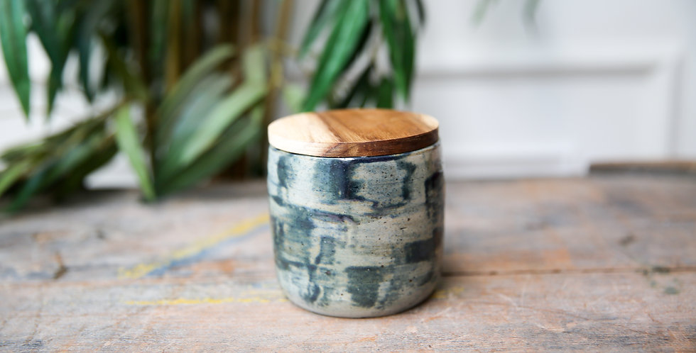 The Painted Ceramic Jar - Olive