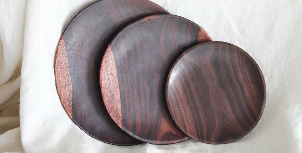 Kayu Round Wooden Plate - KHKK165 (SMALL)