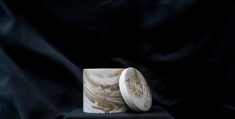 Ash Marble Sugar Pot